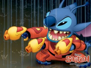 Stitch, not saving a cat.